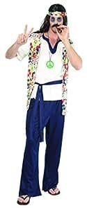 Rire Et Confetti - Fiahip008 - Déguisement Pour Adulte - Costume Hippie - Homme - Taille M