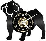 TIANZly Vinyl Record Orologio da Parete Orologio da Parete Orologio da Parete Vintage Tic-Tac Orologio da Parete Nero Decorazioni per pareti Grandi Design Regalo 12 Pollici