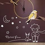 BBH.LEE Der Kleine Prinz Und Der Fuchs/Cartoon/Kinderzimmer Wandbild Dekorative Wand Sticker/Aufkleber, Weiß, In
