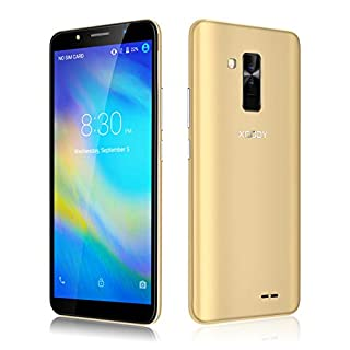 Xgody SIM Free Mobile Phones, Y26 (2018) Android GO 8.1, Dual SIM Unlocked Smartphone 6 Inch IPS Display- 2800mAh Battery - 8MP+5MP Dual Cameras - Bluetooth - GPS - 3G Mobile Phone (Gold)