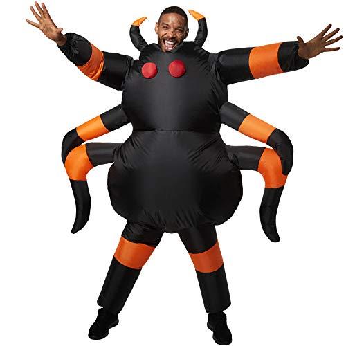 Frau Kostüm Frankenstein's - dressforfun 302355 - Aufblasbares Unisex Kostüm Tarantula, Anzug mit acht Beinen, Fühlern und aufgenähten Augen