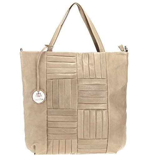 Boscha Don´t be square borsa tote Theresa pelle 43 cm Taupe