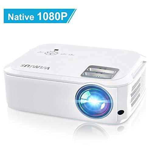 Vidéoprojecteur, WiMiUS 5500 Lumens Vidéo Projecteur Full HD 1920x1080P Natif Rétroprojecteur...