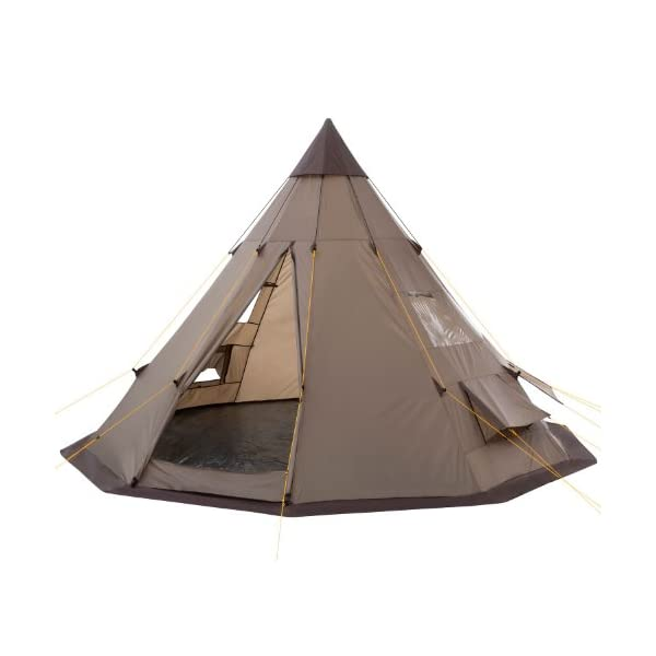 CampFeuer - Teepee Tent, Tipi brown 1