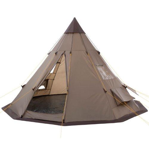 CampFeuer - Tipi Zelt (Teepee) - Indianerzelt, Braun / Hell-Braun