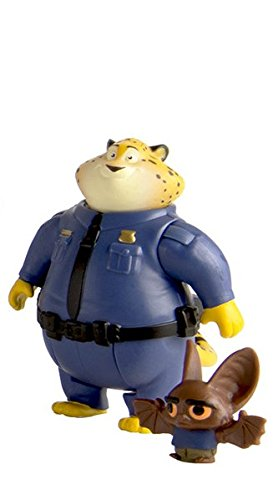 Tomy Zootropolis Clawhauser E Pack Personaggi Bat Eyewitness (Multi-Colour)