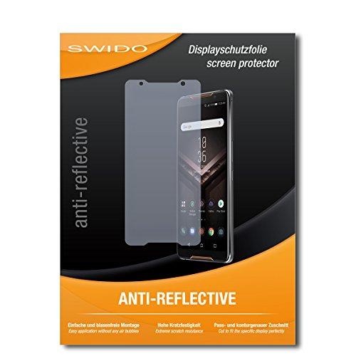 SWIDO Schutzfolie für Asus ROG Phone [2 Stück] Anti-Reflex MATT Entspiegelnd, Hoher Härtegrad, Schutz vor Kratzer/Bildschirmschutz, Bildschirmschutzfolie, Panzerglas-Folie