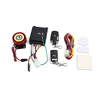 DealMux Motorcycle Anti-theft Security Alarm System Remote Control Engine Start