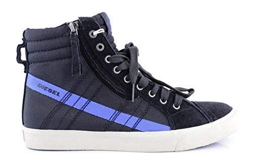 Diesel d-stringa uomo antracite sneakers uomo top alto scarpe da ginnastica d perizoma - nero, 41 eu