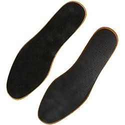 Gazechimp 1 Par Plantillas Ortopédicas De Zapato Cuero Sudor Absorbente Deodorization Unisex Shoe Inserts