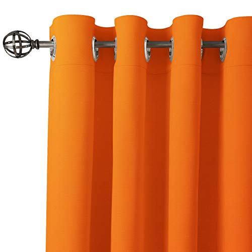 check MRP of orange curtains in living room Encasa Home