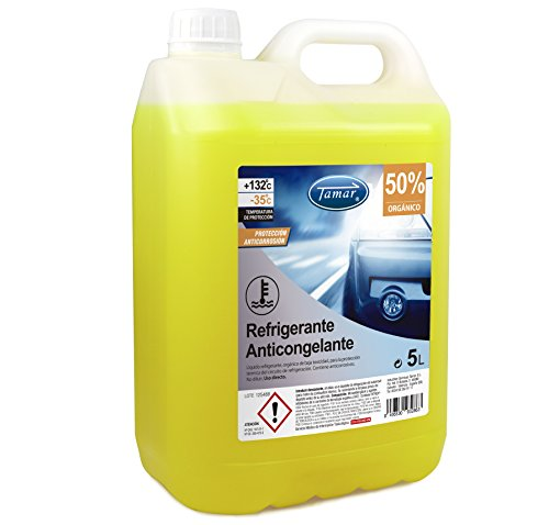 Tamar 601130005 Coolant / Antifreeze 50% Organic, 5 liters