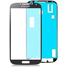 Samsung Galaxy S4i9500Juego de reparación de cristal en negro: * Nuevo * con cristal y adhesivo, pantalla Black, parabrisas Completo, pantalla de Glass Repair Kit para S4, Repuesto para cristal, reparación