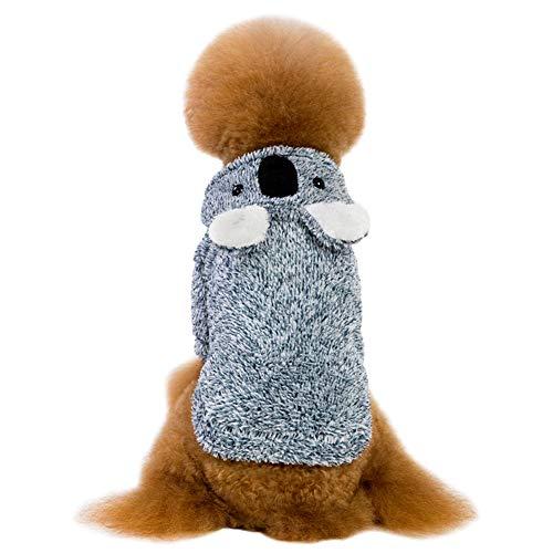 LSERVER Herbst und Winter Haustierkleidung verdickender fauler Bär Teddyhundekleidung, Blau, XL (Fauler Bekleidung)