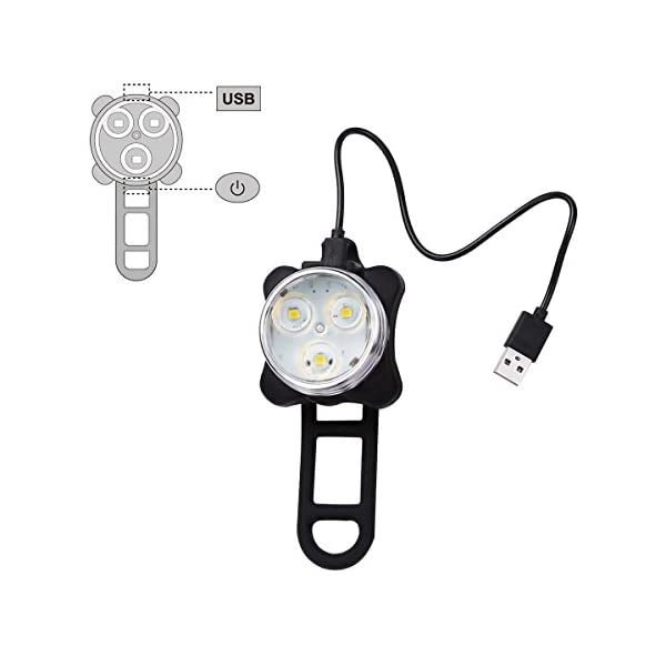 Rechargeable LED Bike Lights Set for sale