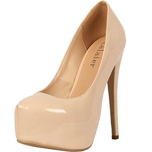 cdfc78066a11f Calaier Femme Cawrite Luxe Sexy Parties Confortable Plate-Forme Grande  Taille Chaussures De Talon Supérieure