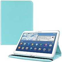 kwmobile Funda 360° para > Samsung Galaxy Tab 3 10.1 < Carcasa con pie de soporte - Funda protectora para tablet bolso con función de soporte en azul claro