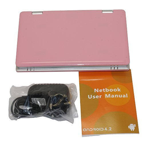 Neu 4gb 17.8cm (7 Zoll) Notebook Netbook, Kompatibel mit BBC iPlayer, Youtube, Facebook- Rose (Android Netbook)
