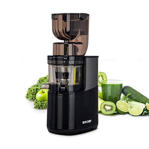 BioChef Atlas Whole Slow Juicer Pro Extracteur de jus 350 W 40 tr/min- noir