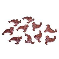 Miniblings 10pcs Walrus Baby Rubber Animal Miniature Ocean Figure Figures Figurines