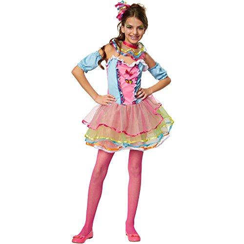 dressforfun 900337 - Mädchenkostüm Neon Regenbogen Girl, Buntes Komplettkostüm mit Viel Tüll (128 | Nr. 301668)
