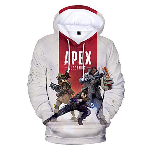 Mchooded Klassische Unisex Hoodies Apex Legends Sweatshirt Game Coat Chic Trainingsanzug Für Herren Und Jungen T-Shirt Print-Weiß North Face Womens Coat