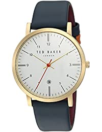 408b85ef557 Ted Baker Men s  SAMUEL  Quartz Stainless Steel and Leather Casual Watch