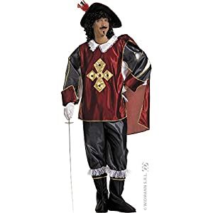 WIDMANN Deluxe Musketeer Mens Fancy Dress Available Sizes : Mens up to a 40 inch chest (disfraz)