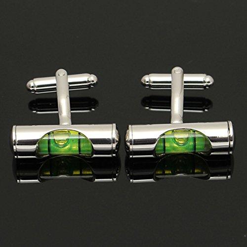 Bluelover gli uomini torica clessidra gemelli argento business matrimonio party regalo vestito camicia maniche nail - verde