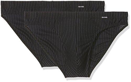 Skiny Herren Slips Advantage Men Brasil Slip 2er Pack , Mehrfarbig (Shadow Stripe 4566) , Medium