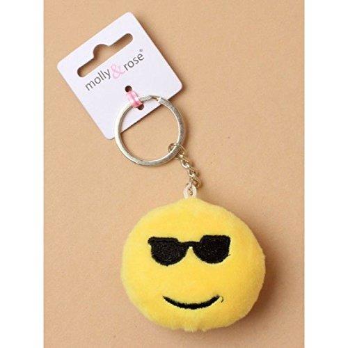 Emoji weiche Runde gefüllte Kissen Schlüsselanhänger Strumpf Füller Smiley