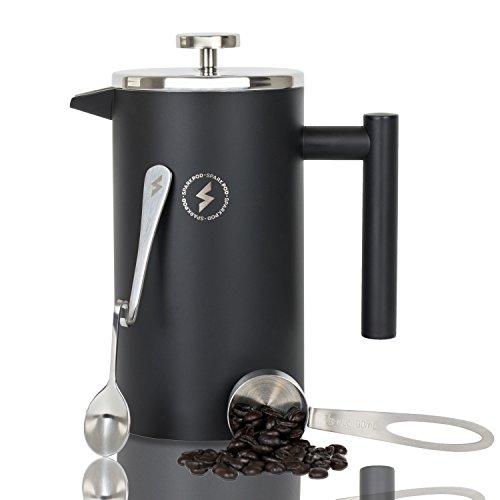 SparkPod Französisch Presse Kaffee & Tee Maker Complete Bundle (34 oz - 1 Liter) 4 Artikel