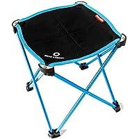 TRIWONDER Taburete de Camping Portátil, Silla Plegable al Aire Libre Slacker Silla para Acampar Mochilero Senderismo Pesca Viaje Jardín Barbacoa con Saco de Transporte (Azul)
