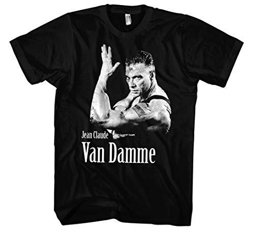 Colonel Guile Männer und Herren T-Shirt   Street Fighter Jean Claude Van Damme     (M, Schwarz) (Street Fighter T-shirt)