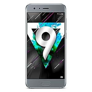 "Honor 9 Smartphone LTE, Display IPS 5.15"" FHD (1920 x 1080), Kirin 960 Octa-Core, 64 GB, 4 GB RAM, Doppia Fotocamera 20MP/12MP, Batteria 3200 mAh, DualSIM, Argento"