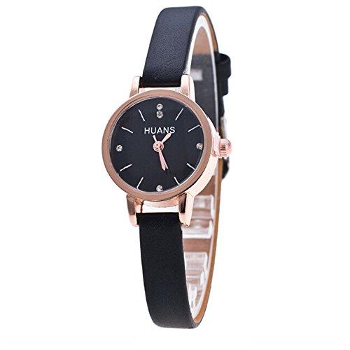 XZDCDJ Damen Uhr Armbanduhr Bracelet Jungen Uhr Unbedeutende Mode Frauen feine Bügel Uhr Reise Andenken Geburtstags GeschenkeSchwarz680 -