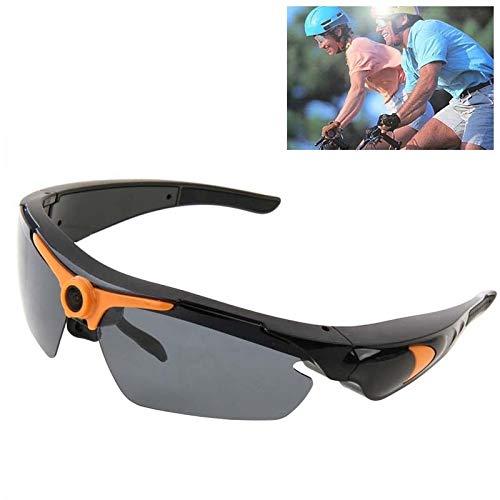 AM-Gläser Schützend 1,3-Megapixel-Sport-Sonnenbrillen-Kamera, 70-Grad-Weitwinkel-HD-Objektiv Stilvoll (Farbe : Orange)