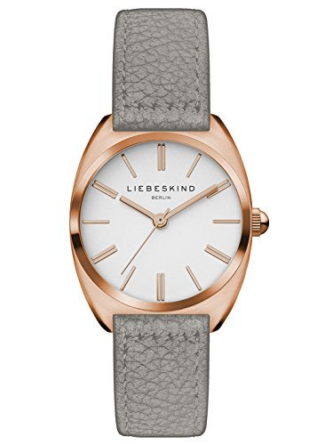 Liebeskind Berlin Damen Analog Quarz Uhr mit Leder Armband LT-0053-LQ