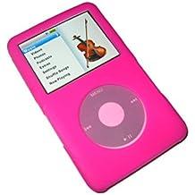 igadgitz Rosa Custodia Silicone per Apple iPod Classic 80GB, 120GB & Nuovo 6th Generation 160gb (Ipod Classic Cover)