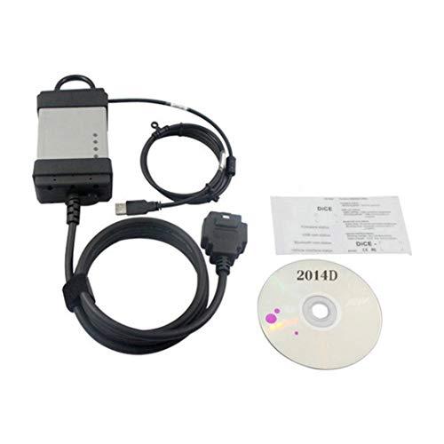 sdfghzsedfgsdfg 2014D OBD2 OBDII moteur de voiture Scanner de diagnostic automobile outil de diagnostic complet Chip Conseil vert pour la série Volvo Vida Dice noir et gris