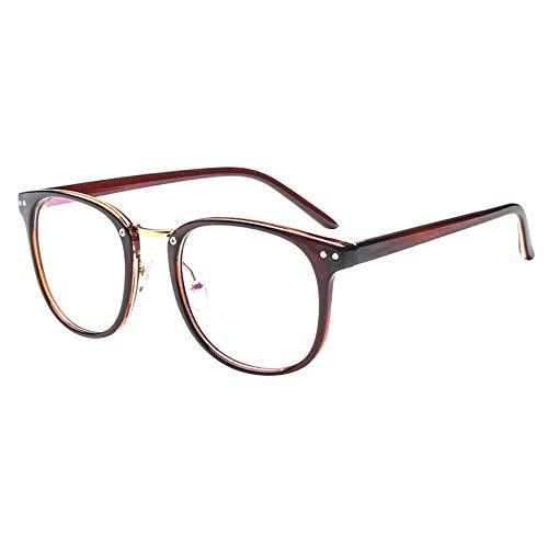 Forepin® Montura para Gafas de Vista Hombre y Mujer Antiguas Grandes