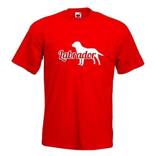 KIWISTAR - Labrador Retriever T-Shirt in 15 verschiedenen Farben - Herren Funshirt bedruckt Design Sprüche Spruch Motive Oberteil Baumwolle Print Größe S M L XL XXL Rot