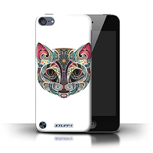 Stuff4® Hülle/Hülle für Apple iPod Touch 5 (5th Generation) / Katze Muster/Deko-Tiere Kollektion (Mädchen Ipod-taschen 4. Generation)