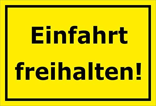 Melis Folienwerkstatt Schild - Einfahrt freihalten - 30x20cm | Bohrlöcher | 3mm Aluverbund - S00065-067-C -20 VAR