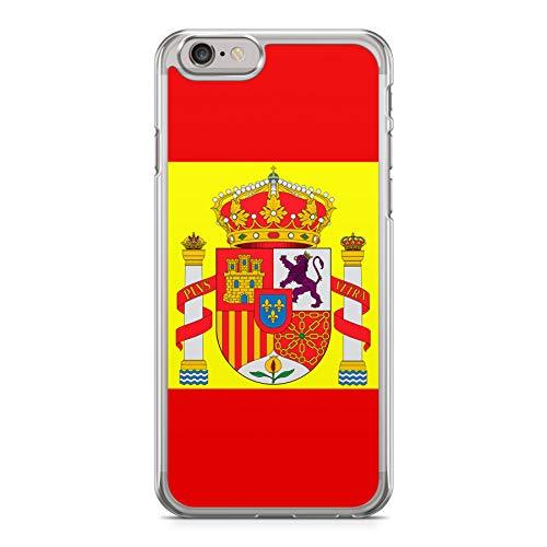 a6d0b2522cd Funda Carcasa Bandera España Escudo para iPhone 7 Silicona Transparente TPU  Flexible