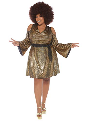 Leg Avenue Women's Plus Size Disco Doll Fancy Dress Costume 3X/4X