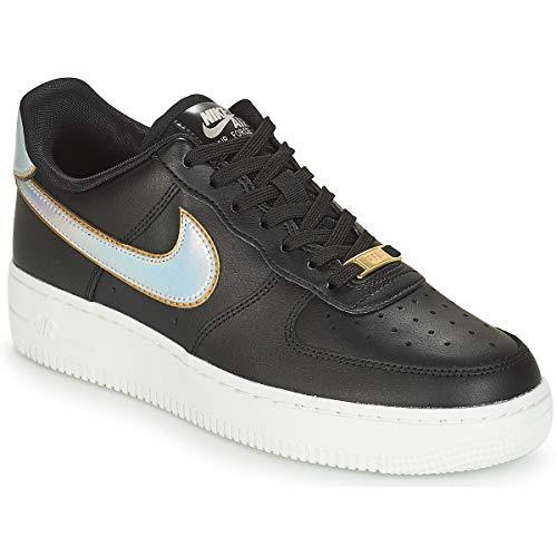 Nike Wmns Air Force 1 '07 Mtlc, Scarpe da Ginnastica Basse Donna, Nero (Black Ar0642-002), 36.5 EU