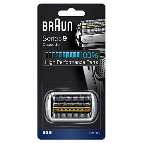 Braun Elektrorasierer Ersatzscherteil 92S, kompatibel mit Series 9 Rasierern, silber (Live Chat)
