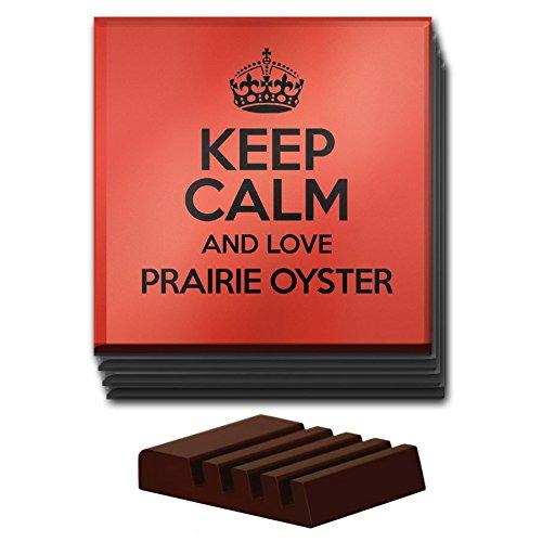 Duke Gifts Rot Set von 4Keep Calm und Love Prairie Oyster Glas Untersetzer Farbe 2847 (Oyster Glas)