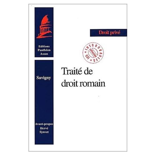 Le traité de droit Romain